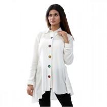 Carve Ivory Formal Collar Neck Shirt For Women (CIV005)
