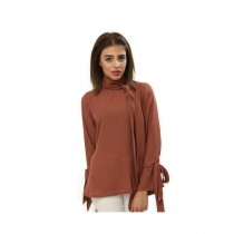 Carve Uptown Tie Stylish Round Neck Girls Casual Top (CUP004)