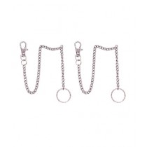 Afreeto Long Chain With Hook Keychain Pack of 2