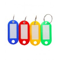 Afreeto Round Shape Name Tag Keychain Multicolor Pack Of 20