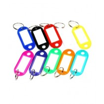 Afreeto Name Tag Keychain Multicolor Pack Of 10 (0066)