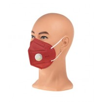 Badar Store KN-95 4 Layers Face Mask With Filter Red Pack Of 10