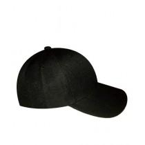 World of Promotions Stylish Plain Cap For Men Black