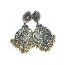 Bushra Collection Silver Earring (0053)