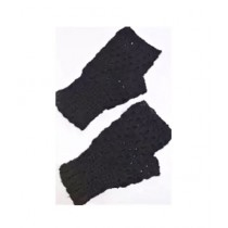 Cheap Carts Wool Fingerless Gloves Black