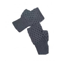 Cheap Carts Wool Fingerless Gloves Grey