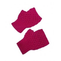 Cheap Carts Wool Fingerless Gloves Pink