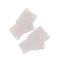 Cheap Carts Wool Fingerless Gloves White
