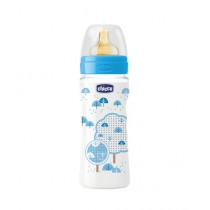 Chicco Wellbeing Latex Bottle 330ml - 4M+ Blue