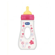 Chicco Wellbeing Latex Traveling Bottle 240ml - 4M+ Pink