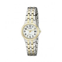 Citizen Eco-Drive Silhouette Women's Watch Silver/Gold (EW1544-53A)