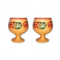 Clay Potter Clay Cup Goblet Style 2 Pcs Set
