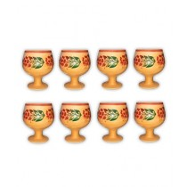Clay Potter Clay Cup Goblet Style 8 Pcs Set