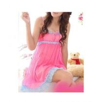 Clickbus Collection Sleeveless Nightwear Dress Pink