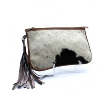 Uroosa Cow Hide Clutch Multicolor (001)