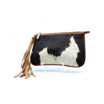 Uroosa Cow Hide Clutch Multicolor (003)