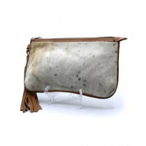 Uroosa Cow Hide Clutch Multicolor (005)