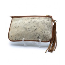 Uroosa Cow Hide Clutch Multicolor (008)