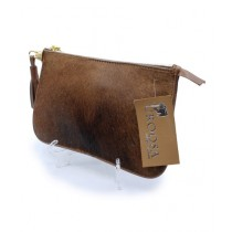 Uroosa Cow Hide Clutch Multicolor (009)