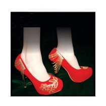 Colt Shoes Embroidered High Heel Shoes For Women