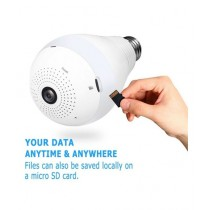 SS IT Solutions WiFi IP 360 Panorama Camera Wireless LED Bulb