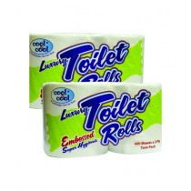 Cool & Cool Toilet Roll 400's 1x4x400's White (T1874)