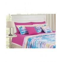 Cotton Passion King Bed Sheet Set Indigo Pink
