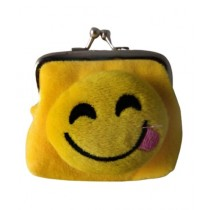 FS Couture Smiley Coin Pouch Yellow