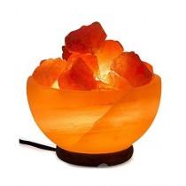 Dealbyu Himalayan Pink Salt Crystals & Bowl Lamp