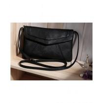 Cucoon Envelope Leather Shoulder Bag For Women Black