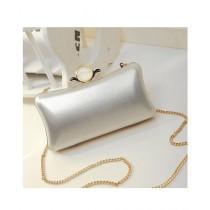 Cucoon Evening Clutch For Women Silver (LH3-229)