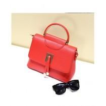 Cucoon PU Handbag for Women - Red