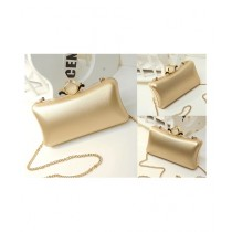 Cucoon PU Party Clutch for Women - Gold