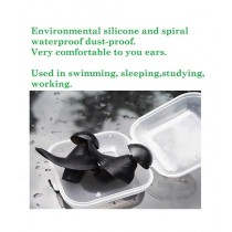Customized Solutions Water Protection Ear Plugs Black