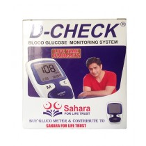 D-Check Blood Glucose Meter With Test Strips