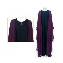 Dar ul Libaas Classic Collection Silk & Chiffon Abaya (DLB43)
