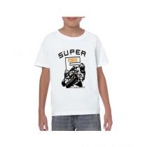 De Shadez Digital Printed T-Shirt For Boys White (0004)