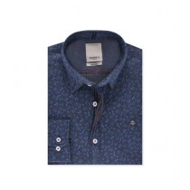 Diners Long Sleeves Casual Shirt For Men D-Blue (AG18545)