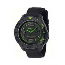 DKNY Analog Men's Silicone Strap Watch Black (NY1401)