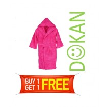 Dokan Pakistan Terry Bathrobe For Men Pink