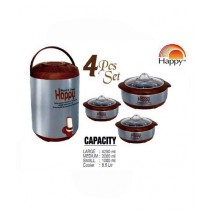 Easy Shop 3 Different Sizes Hotpot And 8.5Ltr Cooler Set Of 4