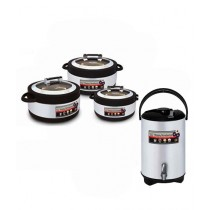 Easy Shop 3 Hotpot And 1 Cooler Set Of 4