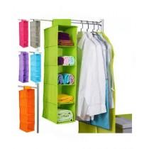 Easy Shop 5 Layer Cloth Hanging Organizer Brown