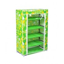 Easy Shop 5 Layer Zip Closure Cloth Shoe Rack Green