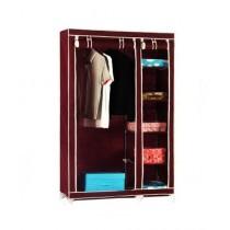 Easy Shop 5 Shelf Cloth Hanging Wardrobe Brown