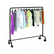 Easy Shop 5ft Cloth Hanging Stand With Attached Wheel