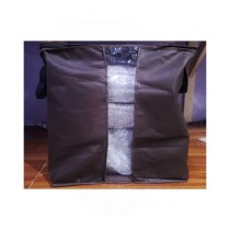 Easy Shop Foldable Clothes Organizer Bag For Carrying Brown