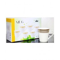 Easy Shop Imperial Tea Cup Gold Print Pack Of 6 (0625)