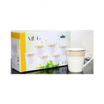Easy Shop Imperial Tea Cup Gold Print Pack Of 6