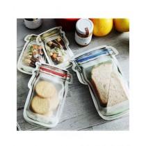 Easy Shop Jar Design Zip Lock For Food Storage Pack Of 3